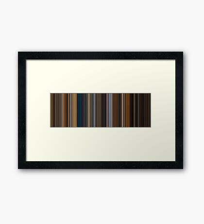 Moviebarcode: Apocalypse Now (1979) [Simplified Colors] Framed Print