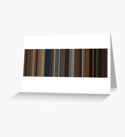 Moviebarcode: Apocalypse Now (1979) [Simplified Colors] Greeting Card