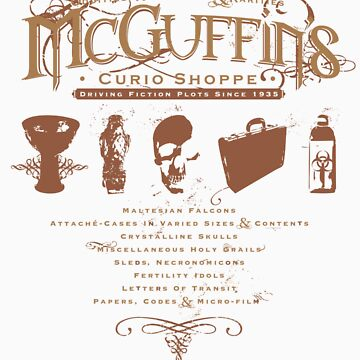 McGuffin's Curio Shoppe - (for Dark Shirts) by RibMan