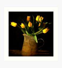 Lámina artística tulipes jaunes