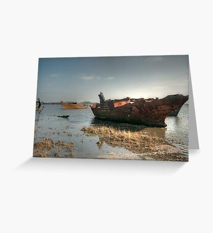 High Tide Wrecks Greeting Card