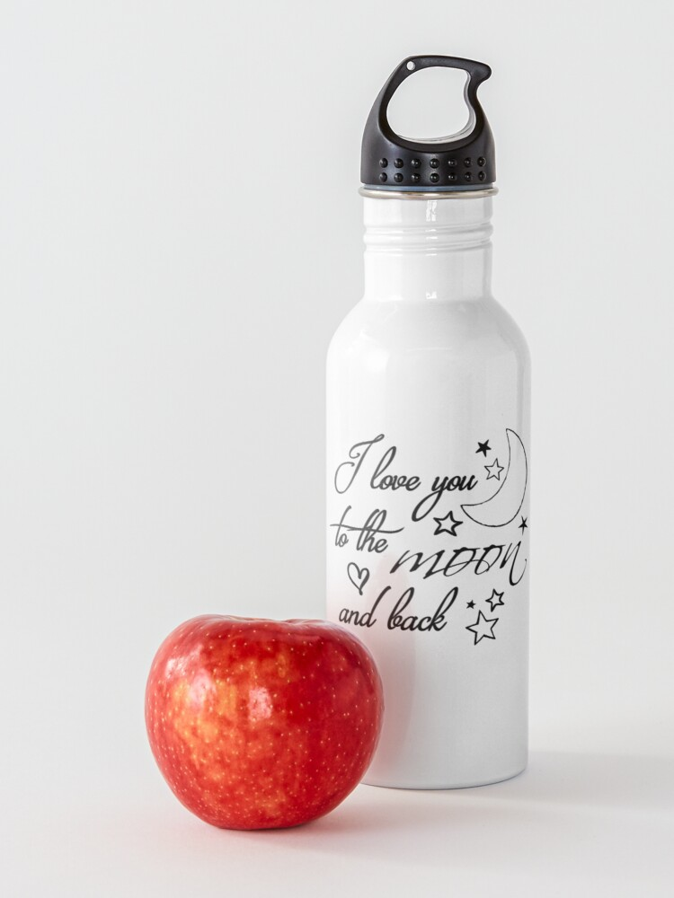 Alternate view of Love You to the Moon Water Bottle