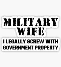 Military Wife Sticker