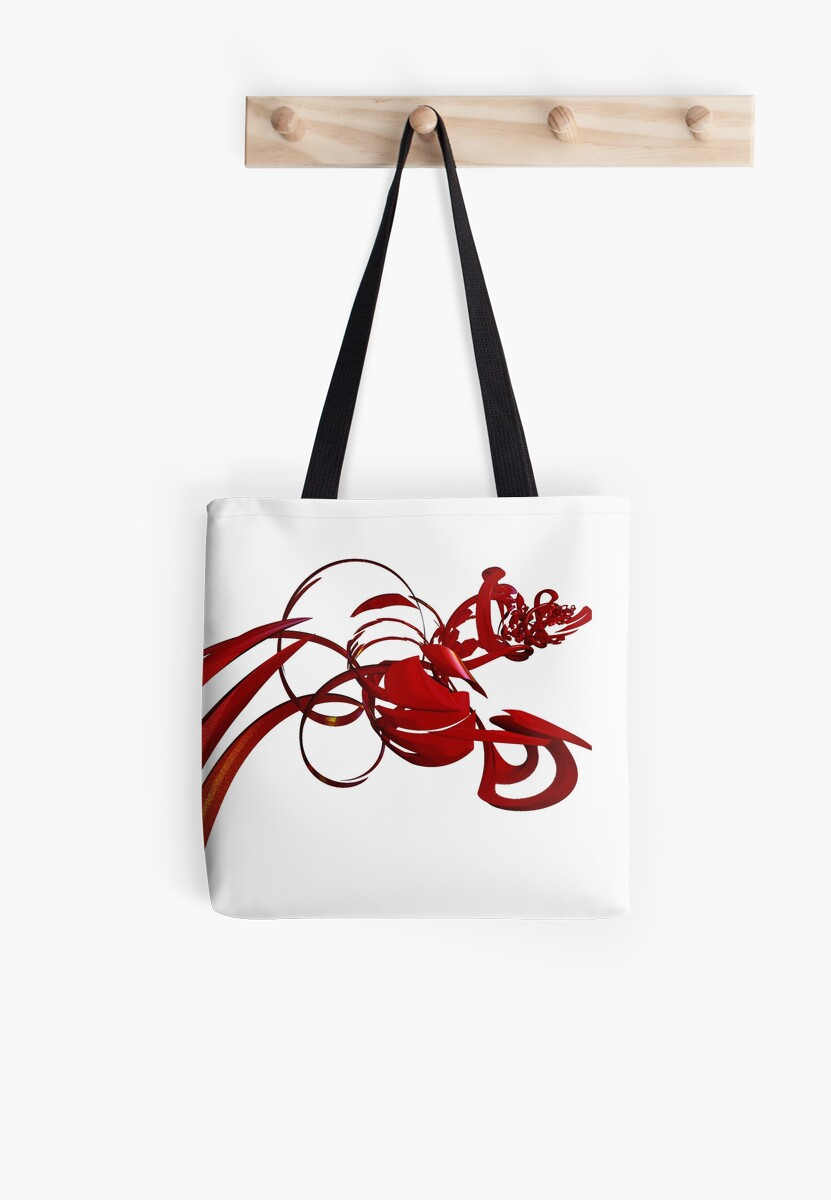 Roses are Red Tote by Karirose
