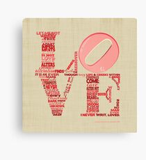 Love is Not Love, Shakespeare Sonnet 116 Canvas Print