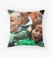 Crazed Fans - Kids at kickoff Throw Pillow