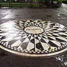 """Imagine"" Mosaic- Strawberry Fields, Central Park, New York by Bev Pascoe"