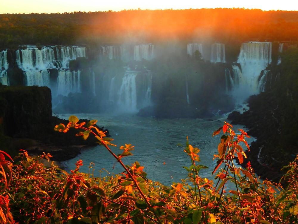 Sunset at Iguassy Falls by supergold