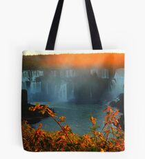 Sunset at Iguassy Falls Tote Bag