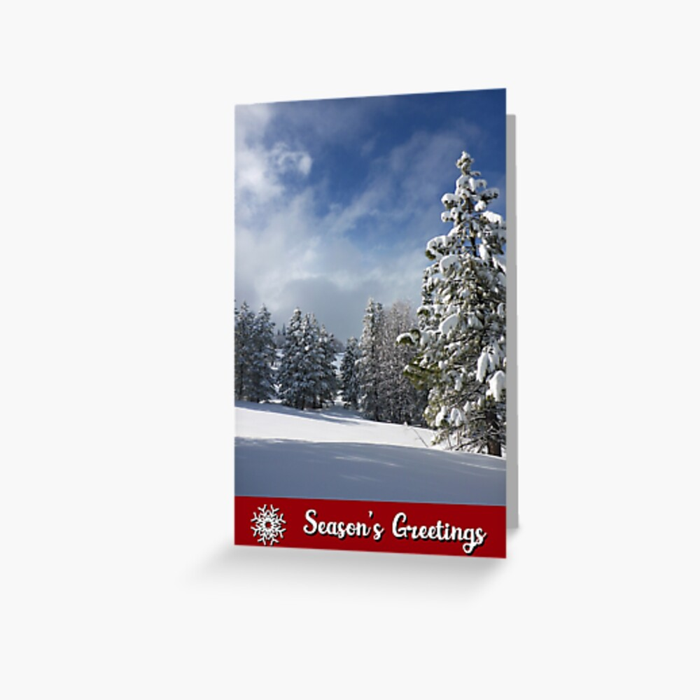 Winter Blue Skies Holiday Card Greeting Card