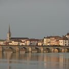 Village on the Saône River France  by Susan Moss