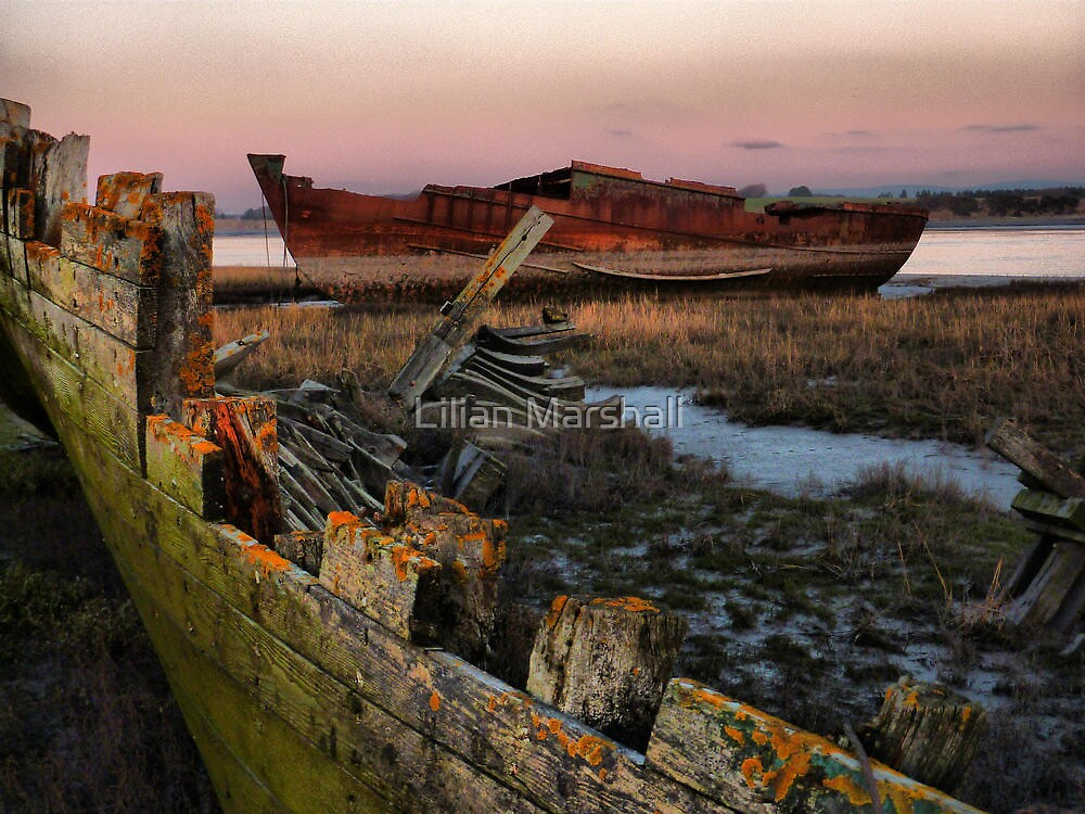 Sunset on the Wrecks. by Lilian Marshall