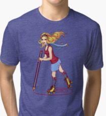 Roller Sketching Tri-blend T-Shirt