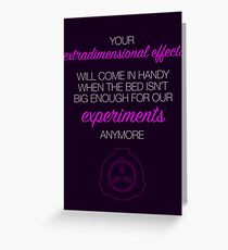 Extradimensional effects Greeting Card