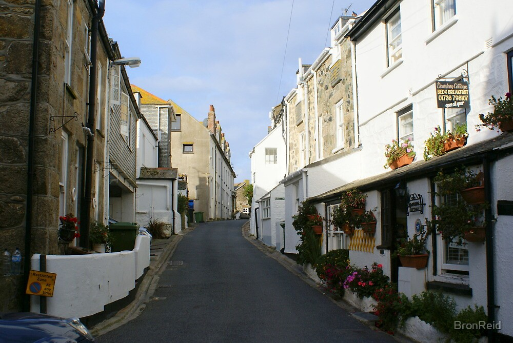 St Ives Cornwall streetscape by BronReid