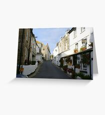 St Ives Cornwall streetscape Greeting Card