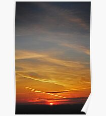 Sunset on a matted sky Poster