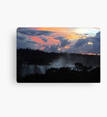 Iguassu Falls Sunset Canvas Print