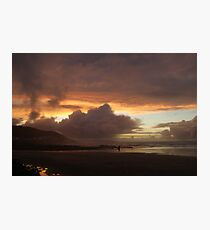 Sunset over Westward Ho! Photographic Print