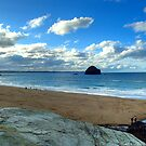 Trebarwith Strand Beach by David Wilkins