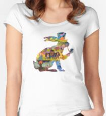 Fairy Tail - Rabbit silhouette Women's Fitted Scoop T-Shirt