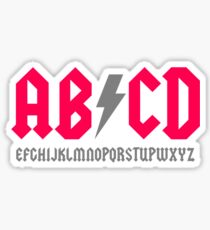 Abcd Parody Sticker