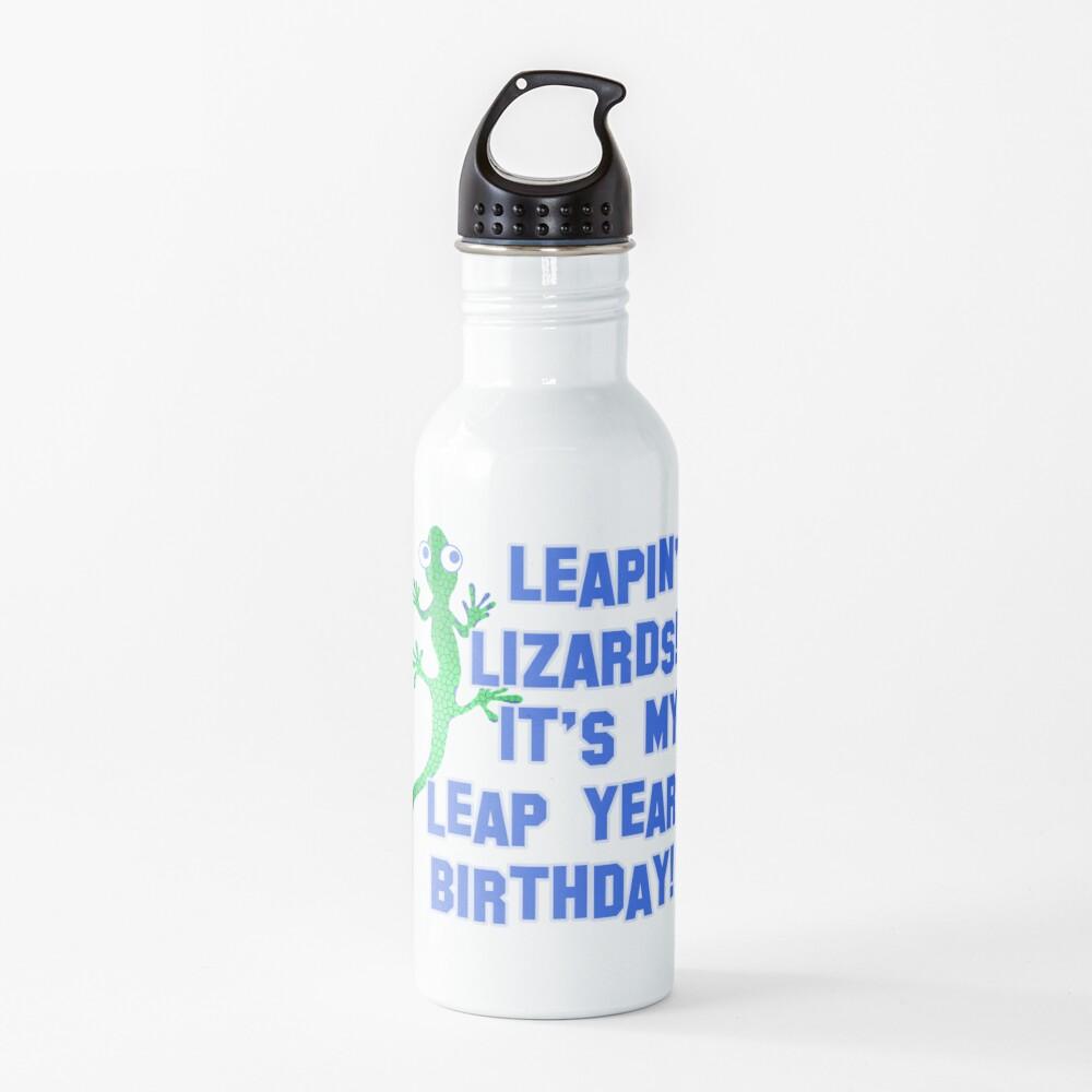 Leapin' Lizards! It's My Leap Year Birthday! Water Bottle