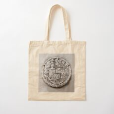 Antique Print of Genetti Coat-of-Arms Cotton Tote Bag