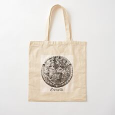 Genetti Coat-of-Arms with Surname Cotton Tote Bag