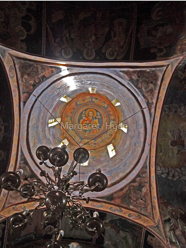 Dome, The Great Church of the Monastery, Sinaia, Romania by Margaret  Hyde