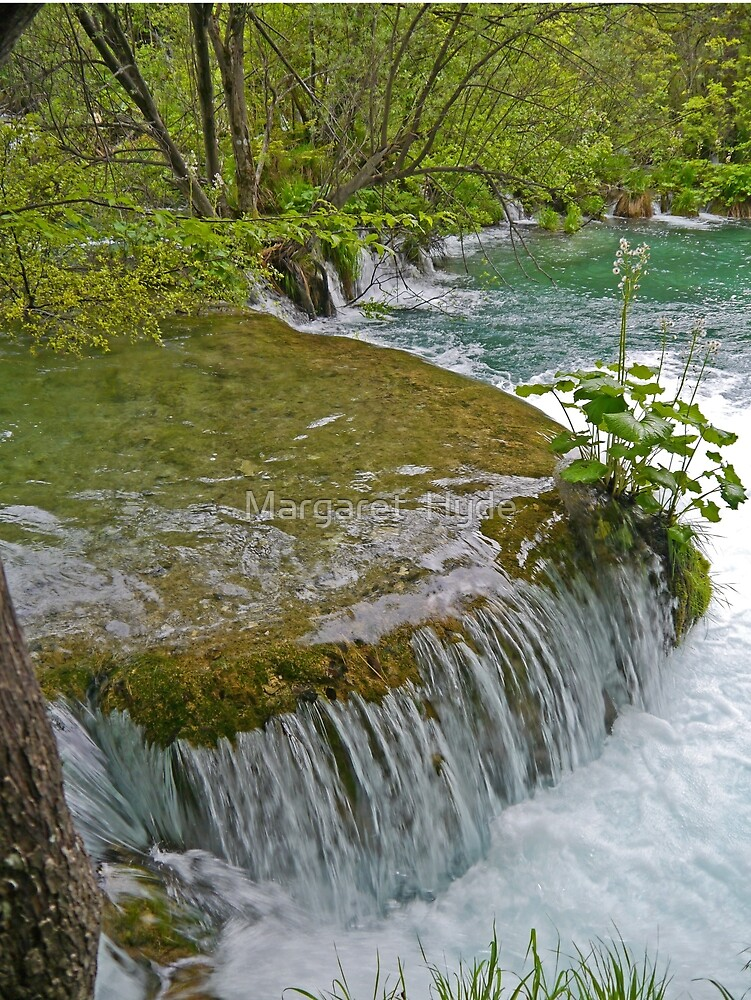 Small waterfall, Plitvice Lakes National Park, Croatia by Margaret  Hyde
