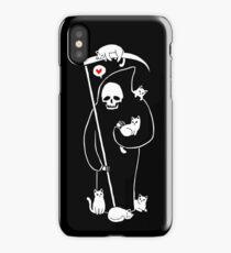 Death Is A Cat Person iPhone Case