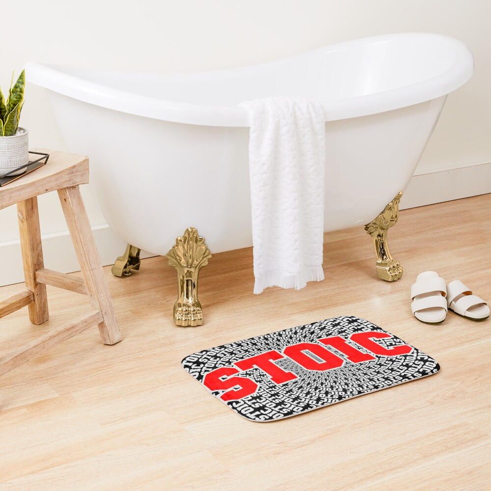 Red Stoic Vortex Bath Mat