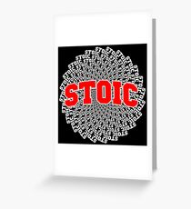 Red Stoic Vortex Greeting Card