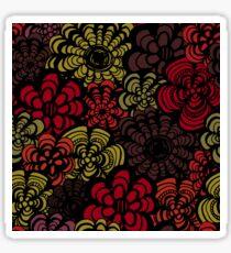 Red and Orange 70's Florals Sticker