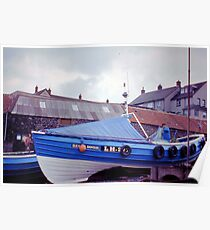 Coble at Craster 1980s Poster