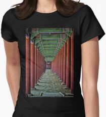 Courtyard Colonnade Womens Fitted T-Shirt