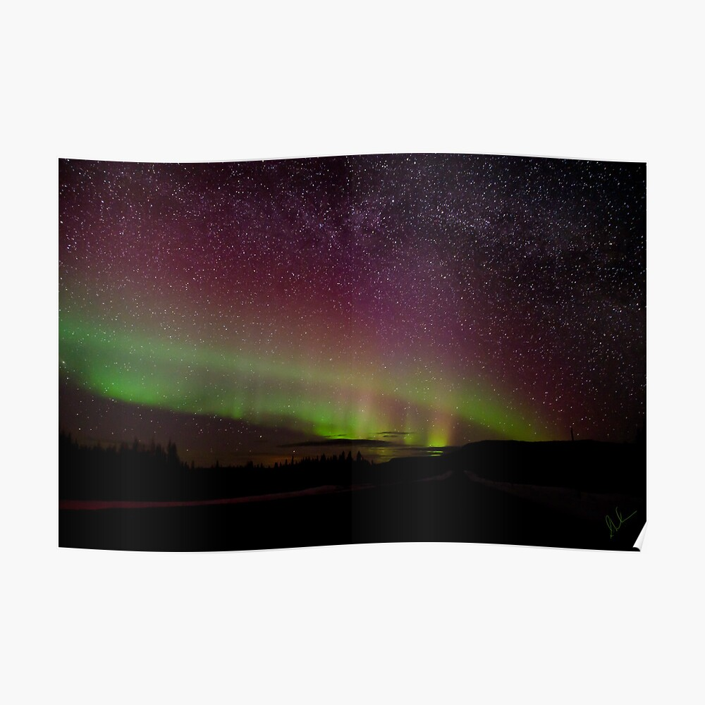 The Night the Sky Turned Purple and Green and the Stars Came Out Poster