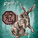 Chinese Zodiac - The Rabbit Card by Stephanie Smith