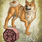 Chinese Zodiac - Year of the Dog Card by Stephanie Smith