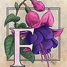 F is for Fuchsia card by Stephanie Smith