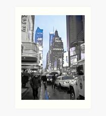 New York in Blue Art Print