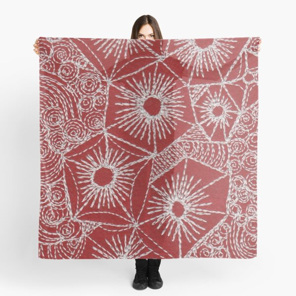 Rock Pool Red  Scarf