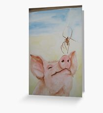 Wilbur and Charlotte Greeting Card