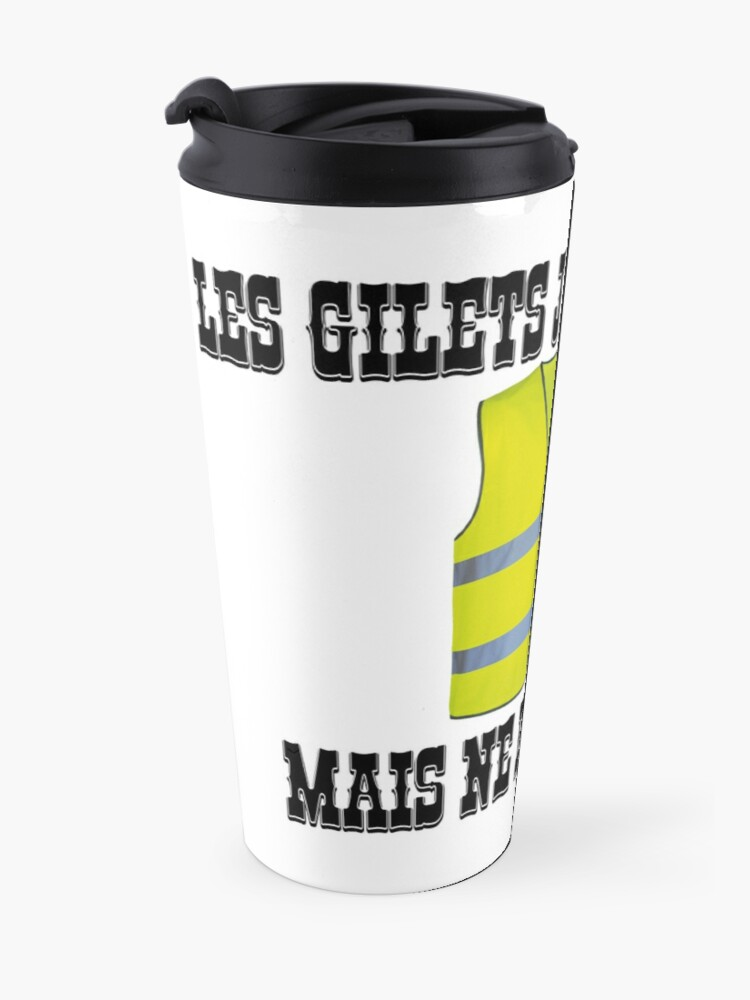 Alternate view of Yellow Vests fold but do not roundabout Travel Mug