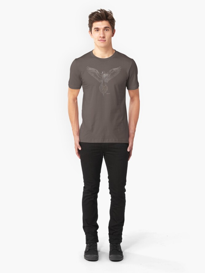 Alternate view of Mourning Dove (dark shirts) Slim Fit T-Shirt
