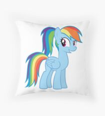 Rainbow Dash with a ponytale Throw Pillow