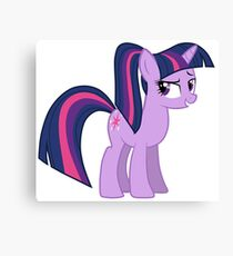 Twillight wit a ponytale Canvas Print