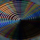 Concentric ellipses whirling from above by Dulcina