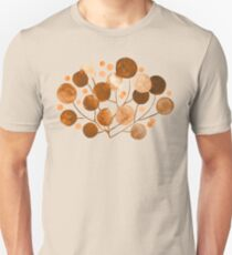 Pompom Plants in Earth Tones Slim Fit T-Shirt